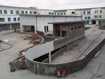 Commerciële bouwconstructie Stock Afbeeldingen