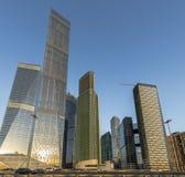 Commerciële centrum Moskou-Stad Stock Foto's
