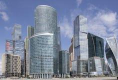 Commerciële centrum Moskou-Stad Stock Afbeeldingen