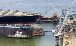 Commerciële containerhaven Stock Foto's