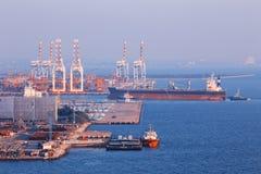 Commerciële containerhaven Stock Afbeelding