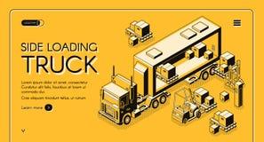 Commerciële de dienst vectorwebpagina van de ladingslevering royalty-vrije illustratie