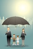 Commerciële familie stock illustratie
