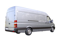 Commerciële geïsoleerde bestelwagen royalty-vrije stock foto