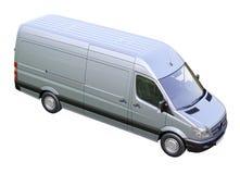 Commerciële geïsoleerde bestelwagen royalty-vrije stock afbeelding