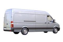 Commerciële geïsoleerde bestelwagen stock foto