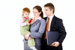 Commerciële geïsoleerde familie Stock Foto