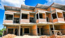 Commerciële gebouwen in aanbouw stock foto's
