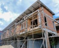 Commerciële gebouwen in aanbouw royalty-vrije stock foto