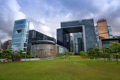 Commerciële gebouwen in Hong Kong Royalty-vrije Stock Foto's