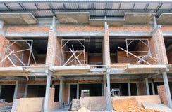 Commerciële gebouwen onder constructio royalty-vrije stock afbeeldingen