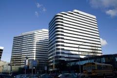 Commerciële gebouwen in Seattle van de binnenstad Stock Afbeeldingen