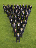 Commerciële Groep in Driehoeksvorming Royalty-vrije Stock Afbeelding