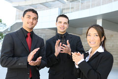 Commerciële Groep (Nadruk op de Mens in Midden) Stock Afbeeldingen