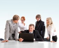 Commerciële groep op het werk Royalty-vrije Stock Afbeelding