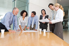 Commerciële groepsvergadering Royalty-vrije Stock Fotografie