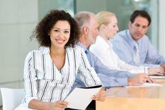 Commerciële groepsvergadering Royalty-vrije Stock Afbeelding