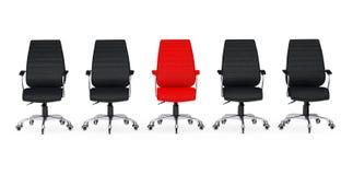Commerciële grote vergadering Rood Leer Chef- Office Chair Between ot Royalty-vrije Stock Afbeeldingen