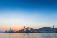 Commerciële haven Stock Foto
