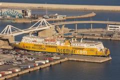 Commerciële haven van Barcelona Stock Foto's