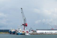 Commerciële haven, Varberg Stock Afbeeldingen