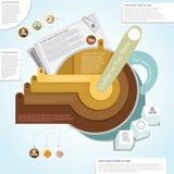 Commerciële infographic vergadering Stock Fotografie