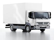 Commerciële Levering/Ladingsvrachtwagen Stock Afbeelding