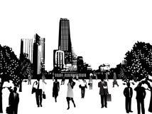 Commerciële mensen en stad Royalty-vrije Stock Foto's