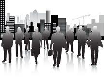 Commerciële mensen en stad Royalty-vrije Stock Fotografie