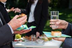 Commerciële partij in de tuin Stock Fotografie