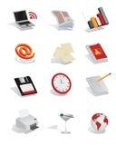 Commerciële Pictogramreeks Stock Afbeeldingen