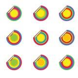 Commerciële pop stickers Stock Afbeelding