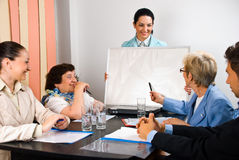 Commerciële presentatie en vergaderingsmensen Royalty-vrije Stock Fotografie