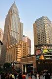 Commerciële squar van Jiefangbei, Chongqing, China Stock Afbeeldingen
