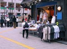 Commerciële straat Stock Foto's