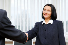 Commerciële teamâ- overeenkomst. Stock Foto