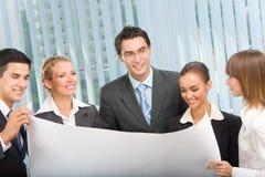 Commerciële team planning Royalty-vrije Stock Foto