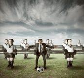 Commerciële teamaanval Stock Afbeeldingen