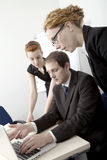 Commerciële teambrainstorming Royalty-vrije Stock Foto