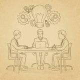 Commerciële teambrainstorming Royalty-vrije Stock Afbeeldingen