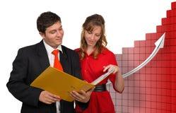 Commerciële teamcomunication Stock Afbeeldingen