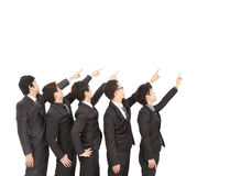 Commerciële teamhand het richten Stock Afbeelding