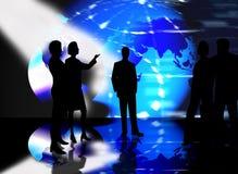 Commerciële teammensen het samenkomen Stock Foto