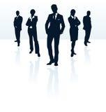 Commerciële teamsilhouetten. royalty-vrije illustratie