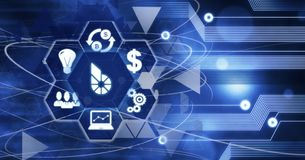 Commerciële van de de Munttechnologie van Bitsharescryptocurrency het Digitale Concept van Internet stock illustratie