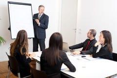 Commerciële vergadering: bedrijfsmensen in het bureau Royalty-vrije Stock Fotografie