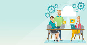 Commerciële vergadering in bureau vectorillustratie stock foto's