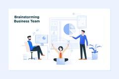 Commerciële vergadering en brainstorming Bedrijfs concept voor groepswerk vector illustratie
