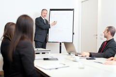 Commerciële vergadering: groep zakenlui op het werk Stock Foto