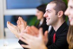 Commerciële vergadering in het bureau Stock Afbeelding